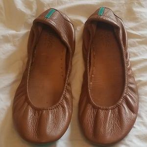 Chestnut Tieks Ballet Flats